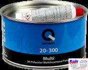 20-300-1800, Q-Refinish, Полиэфирная шпатлевка MULTI мультифункциональная, 1,8кг