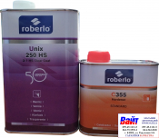 2К Акрило-уретановый лак Roberlo UNIX 250HS (1л) + отвердитель C355 (0,5л)