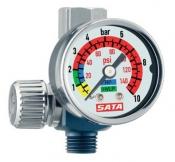 Манометр SATA с регулятором давления и резьбовым соединением