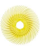 33215 BB-ZB Круг полимерный Scotch-Brite Bristle, радиальный, тип С, желтый, d150мм, Р80