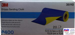 Купить 35110 3M™ Гибкие абразивные листы в рулонах 139 х 114 мм, P400 - Vait.ua
