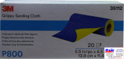 35112 3M™ Гибкие абразивные листы в рулонах 139 х 114 мм, P800