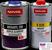 38091, NOVOL NOVAKRYL HS 590, Бесцветный акриловый лак (1л) + отвердитель 5120 (0,5л)
