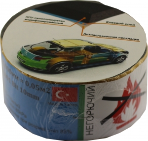 Купить Лента шумоизоляционная MEBANT 10mm*50mm*1000mm - Vait.ua