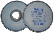 Противоаэрозольный фильтр 3M 2128 от твердых и жидких аэрозольных частиц для респираторов серии 6000 / 7500, уровень защиты Р2