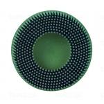07526 RD-ZB Диск-щетка для 3M Roloc™ Scotch-Brite™ Bristle, полимерный, зелёный, 75мм, Р50