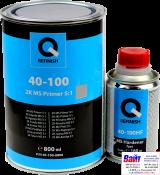 40-100-0800, Q-Refinish, Грунт акриловый 2K MS FILLER 5:1 серый 0,8л + отвердитель 0,16л