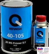 40-105-0800, Q-Refinish, Грунт акриловый 2K MS FILLER 5:1 черный 0,8л + отвердитель 0,16л