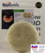 Полировальный круг Flexipads из натуральной овчины Ø 135мм (СТАНДАРТ), длина ворса 20мм, крепление липучка