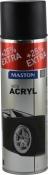 Акриловая аэрозольная эмаль Maston, Черный матовый, 500 мл