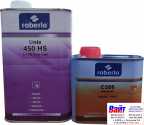 2К Акрилово-полиуретановый лак Roberlo UNIX 450HS (1л) + БЫСТРЫЙ отвердитель C356 (0,5л)