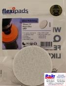 Войлочный диск для полировки стекол Flexipads Ø 75мм, стойкий к износу, крепление липучка