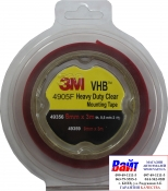 49356 3M Двусторонняя VHB клеющая лента 4905F толщина 0.5 мм, цвет прозрачный, 6мм х 3м