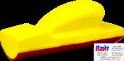 """5-170-0006, C.A.R.FIT, Шлифовальный блок, крепление """"липучка"""", для профильных поверхностей 70х198 мм"""