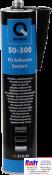 50-300-3102, Q-Refinish, Полиуретановый клей - герметик, черный, туба 310мл