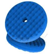 50880 Двухсторонний поролоновый полировальный круг 3M 150мм, рельефный, синий QC