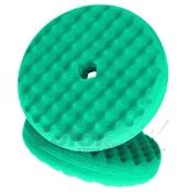 50962 Двухсторонний поролоновый полировальный круг 3M 150мм, рельефный, зеленый QC