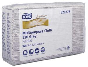 Купить 520378 Салфетки из нетканного материала универсального применения  для удаления масла и жира Tork Premium 520, 42 х 38 см - Vait.ua