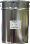 Эмаль полиуретановая RAL 6014 в комплекте с отвердителем и растворителем, банка 20л