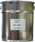 Эмаль полиуретановая RAL 6018 в комплекте с отвердителем и растворителем, банка 10л