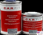 7-221-1000, C.A.R.FIT, 2K HS Scratch Resistant Clearсoat, Прозрачный лак HS, 1л
