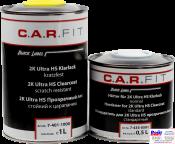 7-401-1000, C.A.R.FIT, 2K Ultra HS Clearcoat, 2К Прозрачный лак Ultra HS, Устойчивый к царапинам, комплект 1 + 0,5л
