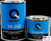 70-265-1000, Q-Refinish, Лак 2K UHS CLEARCOAT VOC 2:1 + 70-265HN-0500 Отвердитель normal, комплект 1,0л + 0,5л
