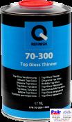 70-300-1000, Q-Refinish, Разбавитель для лаков Top Gloss, 1л