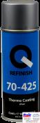 70-425-0402, Q-Refinish, Краска Thermo Сoating аэрозоль термостойкая 400мл, серебро, до 650°C