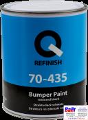 70-435-1001, Q-Refinish, Краска для бамперов, Bumper Paint Textured черная, 1,0л