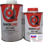2К акрил-уретановый быстросохнущий лак QuickLine HS QC-7400 (1л) + отвердитель QH-4420 (0,5л)