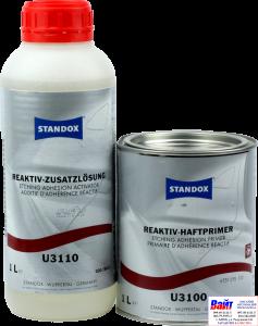 Купить Standox Etching Adhesion Primer U3100 Двухкомпонентная травящая грунтовка (1л), 02078011, 78011, 4024669780116 в комплетке с Standox Etching Adhesion Activator U3110 (1л), 02078012, 78012, 4024669780123 - Vait.ua