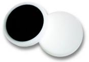 Плоский поролоновый диск Mirka Ø 150мм на липучке, жесткий, белый