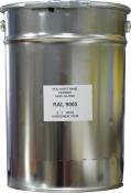 Эмаль полиуретановая RAL 9005 в комплекте с отвердителем и растворителем, банка 15л
