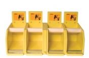 Деревянный диспенсер-рулонодержатель Mirka для абразивных рулонов (на 4 рулона)