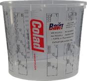 Емкость мерная пластиковая для смешивания красок COLAD без крышки, 1,4л