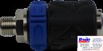 AH025509 ANI TM2 Быстросъемник (мама) TM2 внешняя резьба 1/4M с фиксатором и регулятором подачи воздуха