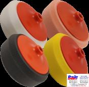 Комплект кругов полировальных PYRAMID с резьбой М14, (Белый, Желтый, Оранжевый, Черный) 4шт