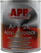 """601 Двухкомпонентная акриловая автоэмаль APP """"Черная"""" (1л) в комплекте с отвердителем (0,5л)"""