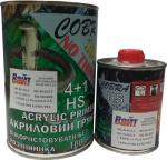 Грунт акриловый 2К 4+1 Cobra Acrylic Primer HS, черный, 1л + отвердитель 0,25л