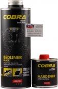 COBRA Truck Bedliner Защитное покрытие со структурным эффектом на базе полиуретановых смол 2K (0,6 л + 0,2л), черное