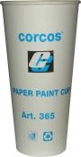 Бумажный мерный стакан Corcos, 600мл с бортом