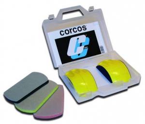 """Купить Набор из 2-х гибких модульных шлифовальных блоков Corcos d150мм, крепление """"липучка"""" + 3 гибких адаптора - Vait.ua"""