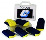 """Набор шлифков адаптеров Corcos (6 шлифков в наборе), 70х120мм, крепление """"липучка"""""""