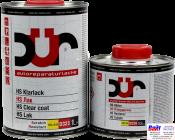 D355, DUR HS Klarlack rapid, Быстросохнущий двухкомпонентный бесцветный акриловый лак с высоким содержанием сухого остатка, 1л