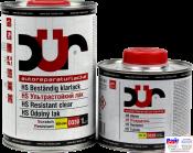 D330, DUR HS Beständig klarlack, Двухкомпонентный HS ультрастойкий лак с высоким содержанием сухого остатка, 1л
