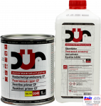 D345, DUR Rostschutzgrundierung CF, Двухкомпонентный реактивный фосфатирующий грунт CF, серый, 1л + 1л