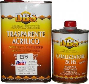 Купить Акриловый 2К лак DBS (1л) + отвердитель (0,5л) - Vait.ua