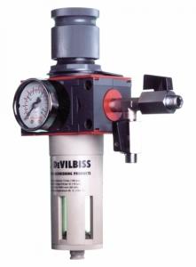 Купить Фильтр-влагомаслоотделитель DeVilbiss с регулятором давления DVFR-3 - Vait.ua