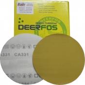 Круг абразивный Deerfos GOLD VELCRO, D150mm, без отверстий, P80